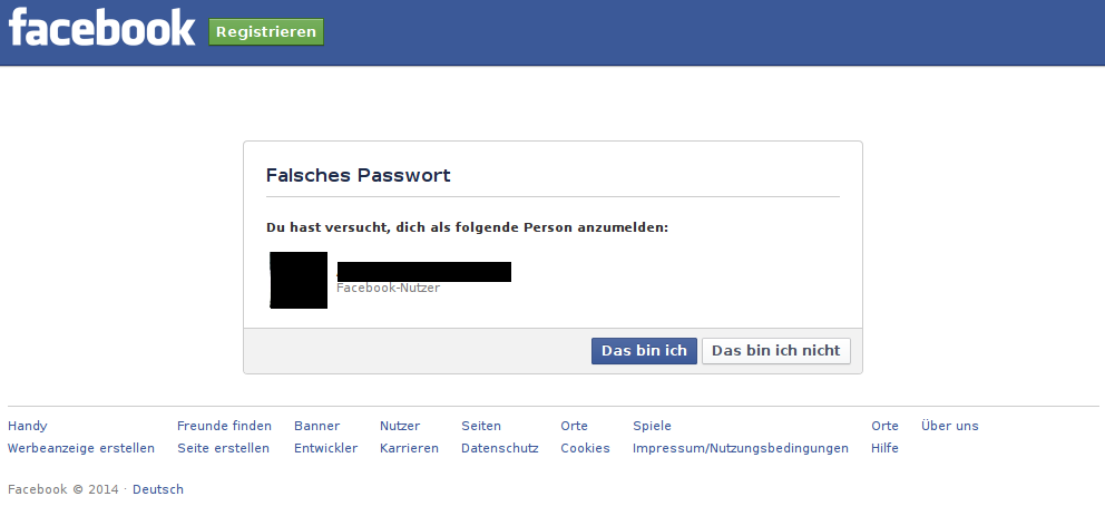 invalid facebook auth